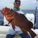 Huge Grouper caught off the coast of St. Petersburg