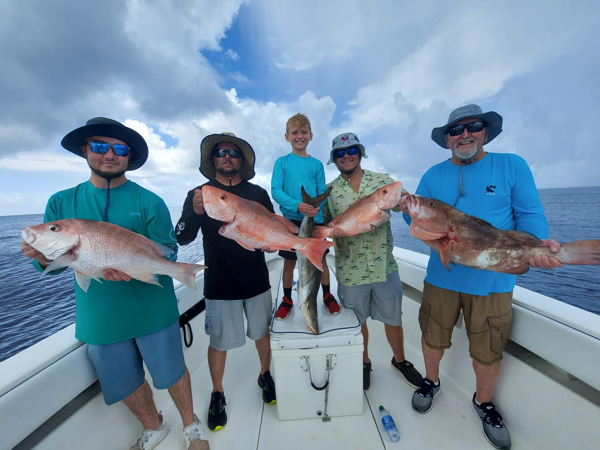 We're Filling Coolers with Grouper & Snapper on Our Deep Sea Charters